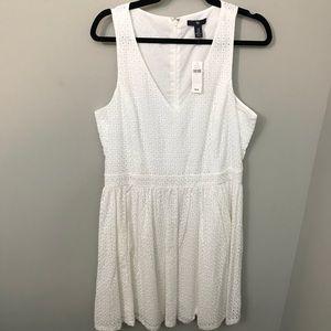 NWT Gap White Eyelet Dress